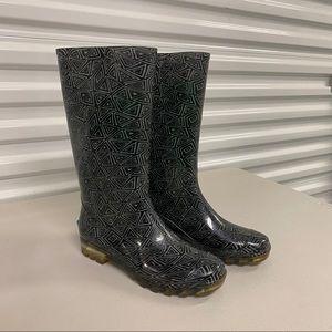 Toms Cabrilla Geometric Print Rubber Rain Boots